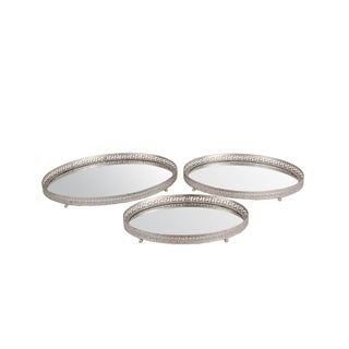Privilege Silver Iron 3-piece Tray Set