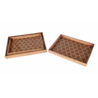 Privilege Wood Tray Set (Pack of 3)