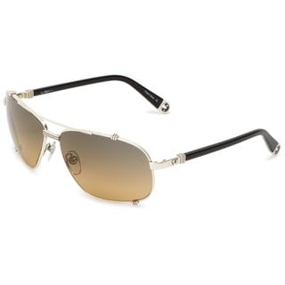 True Religion Unisex Harley Black & Antique Silver Aviator Sunglasses