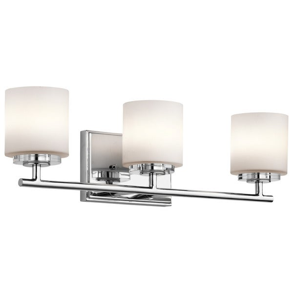 Halogen Bathroom Lights: Shop Kichler Lighting O'Hara Collection 3-light Chrome