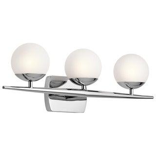 Kichler Lighting Jasper Collection 3-light Chrome Halogen Bath/Vanity Light