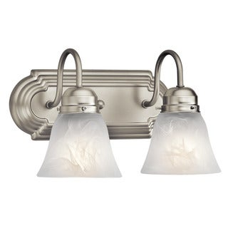 Kichler Lighting Utilitarian 2-light Brushed Nickel Bath/Vanity Light