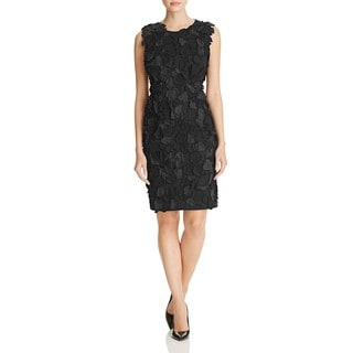 Elie Tahari Women's Taura Black Petal Applique Dress