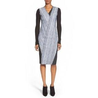 Elie Tahari Cara Women's Blue Mixed Media Dress (3 options available)