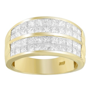 14k Yellow Gold 2 1/2ct TDW Princess Diamond Cluster Ring