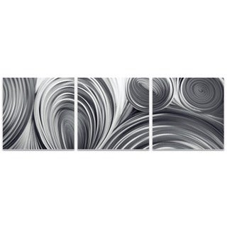 Nicholas Yust 'Conduction Triptych Large' Metal Circles Art on Metal or Acrylic