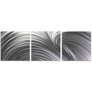 Nicholas Yust 'Fusion Triptych Large' Wave Metal Art on Metal or Acrylic