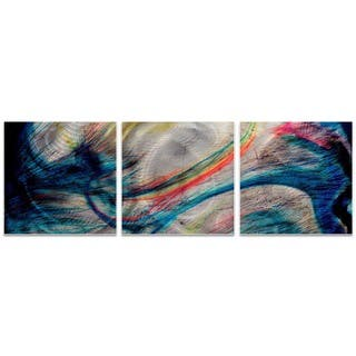 Amber LaRosa 'Grace and Virtue Triptych' Colorful Art on Metal or Acrylic