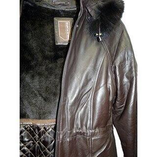 6ac9af1a6 Shop Knoles & Carter Women's Black Lambskin Leather and Fox Fur ...