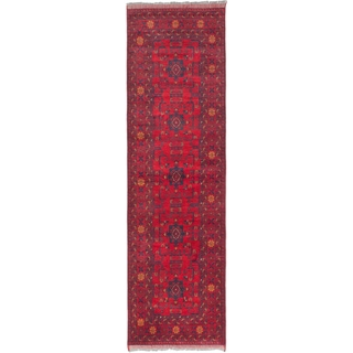 ecarpetgallery Hand-Knotted Finest Khal Mohammadi Red Wool Rug (2'9 x 9'6)