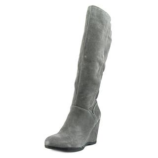 Nine West Women's Vienneo Grey Regular Suede Boots