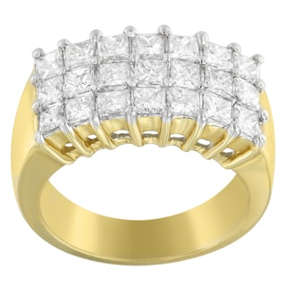 14k Yellow Gold 2ct TDW Princess-cut Diamond Ring (H-I, SI1-SI2)