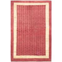 ecarpetgallery Hand-Knotted Peshawar Ziegler Red Wool Rug (4'6 x 6'9)