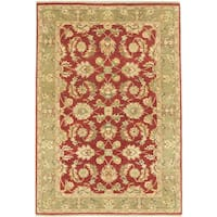 ecarpetgallery Hand-Knotted Chobi Twisted Red Wool Rug (5'0 x 7'0)