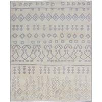 ecarpetgallery Hand-Knotted Royal Ushak Blue Wool Rug (8'1 x 10'0)