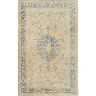 ecarpetgallery Hand-Knotted Anatolian Sunwash Ivory Wool Rug (6'11 x 11'1)
