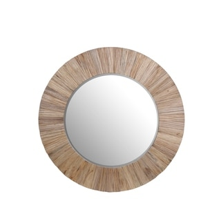 Privilege White Wood Accent Mirror