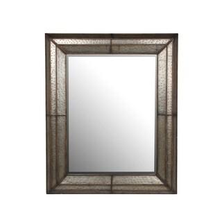 Privilege Wood and Linen Mirror