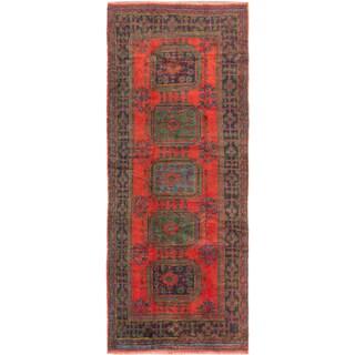 ecarpetgallery Hand-Knotted Konya Anatolian Red Wool Rug (4'8 x 11'2)