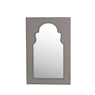 Privilege Black Wood 3-hook Wall Mirror
