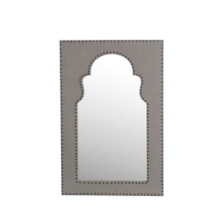 Privilege Black Wood 3-hook Wall Mirror