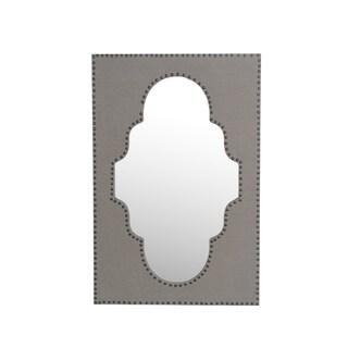 Privilege Black Wood Frame 4-hook Wall Mirror
