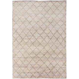 ecarpetgallery Hand-Knotted Royal Maroc Grey Wool Rug (6'1 x 8'8)