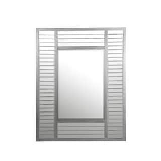 Privilege Linen Grey Wood Wall Mirror