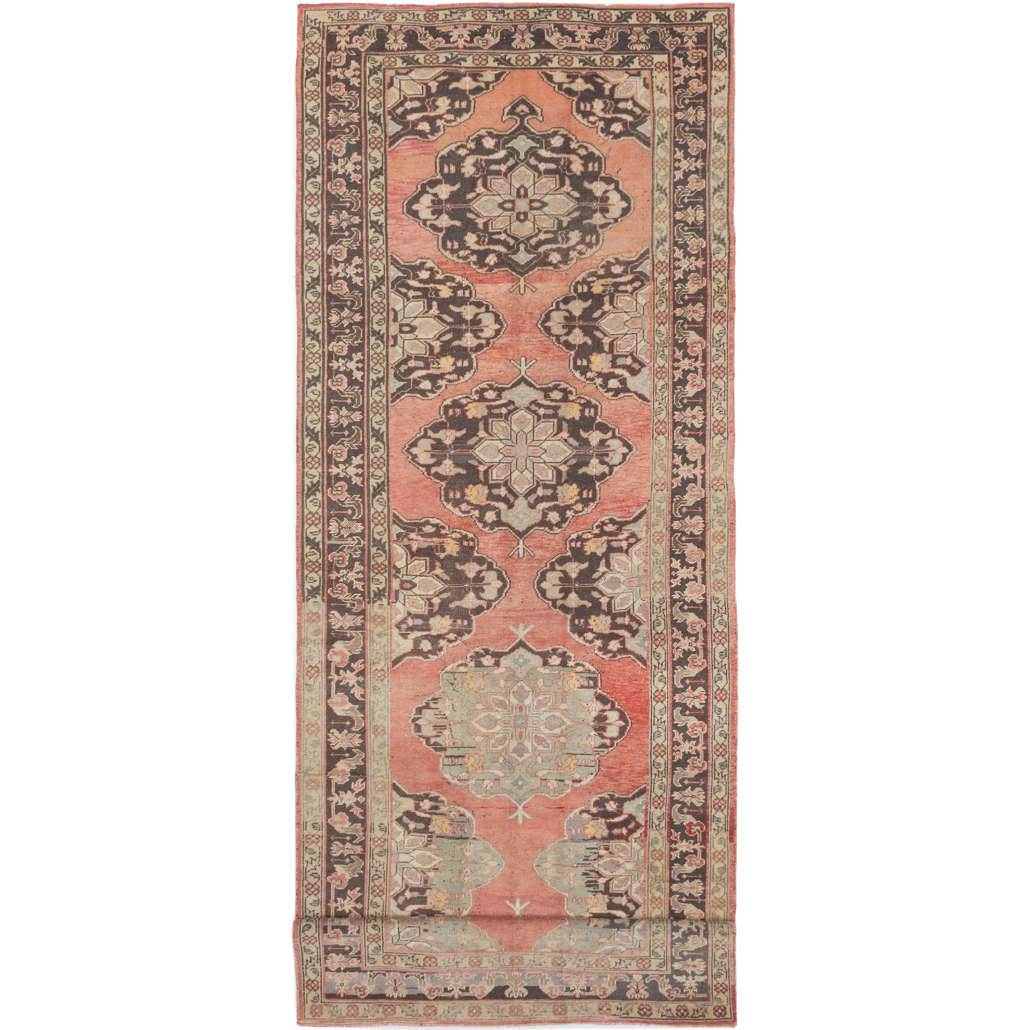 ecarpetgallery Hand-Knotted Konya Anatolian Brown Wool Rug (51 x 141) (Brown Copper Rug (5 x 14))