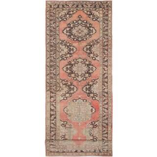 ecarpetgallery Hand-Knotted Konya Anatolian Brown Wool Rug (5'1 x 14'1)