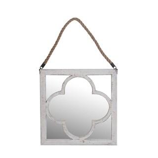 Privilege Wood Frame Round Wall Mirror