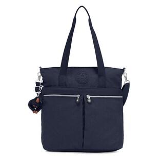 Kipling Pammie Blue Nylon Tote Handbag