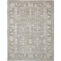 ecarpetgallery Hand-Knotted Finest Ushak Grey Wool Rug (8'9 x 11'4)
