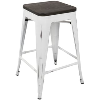 Oregon Industrial Stackable 24-inch Counter Stool (Set of 2)