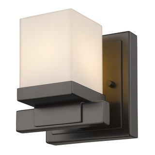 Z-Lite 1 Light Wall Sconce Brown Finish