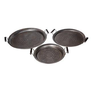 Privilege Brown Iron 3-piece Stamped Trays Set
