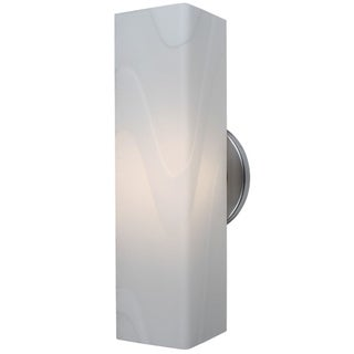 Bruck Lighting Houston Matte Chrome with White Glass Shade 1-light Low-voltage Wall Sconce