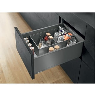 Blum Legrabox C Orion Grey Metal 23-5/8-inch 155-pound-capacity Standard Drawer Kit