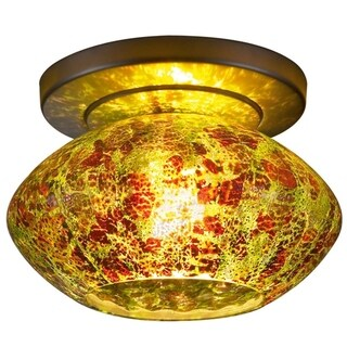 Bruck Lighting Pandora White/Gold-tone Metal Ceiling Mount Fixture