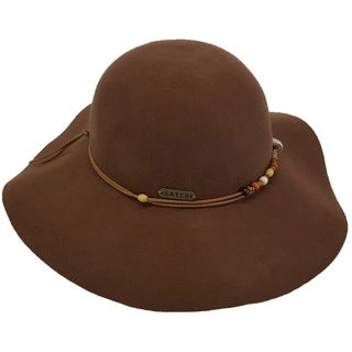 Hatch Hats 100-percent Wool Felt Beading Packable Wide Brim Floppy Hat