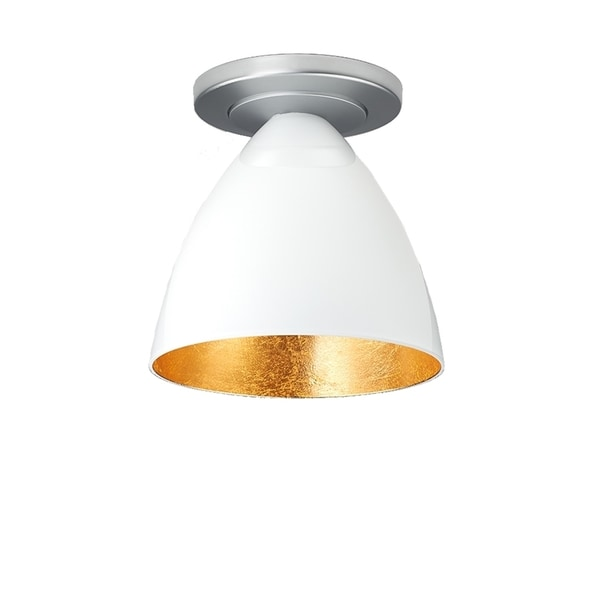 Shop Chrome, Single-Bulb, Ceiling-Mounted Light Fixture with White ...