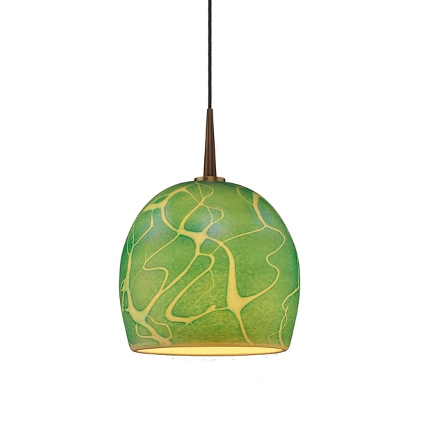 Delta Bronze and Seafoam Glass 4-inch Canopy Pendant Light