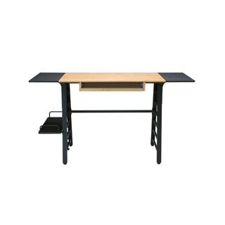 Offex Home Office Ashwood Convertible Desk with Sliding Keyboard Shelf