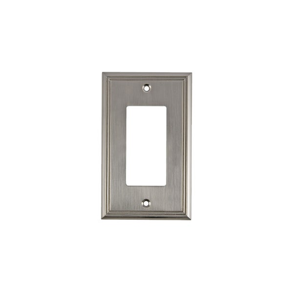 Rok Contemporary Brushed Nickel 1 Gang Decorarockergfci Switch Plate