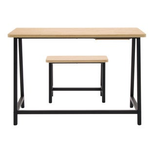Offex Ashwood and Graphite Homeroom Desk and Bench With Drawer