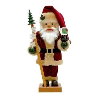 Alexander Taron Snowglobe Santa Multicolor Wood Christian Ulbricht Nutcracker