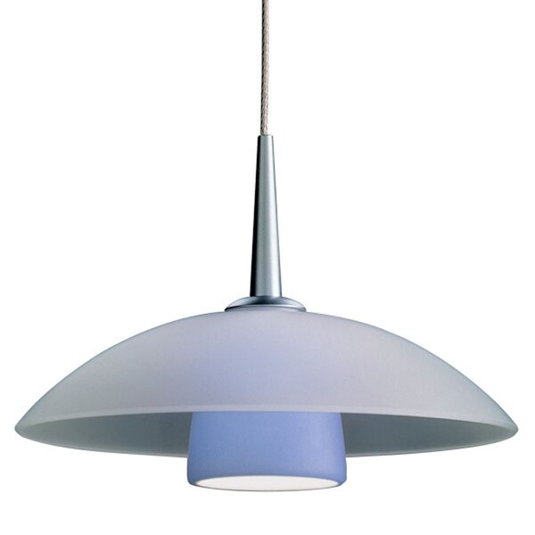 Bruck Lighting Jas Chrome Blue Glass 4-inch Canopy LED Pendant