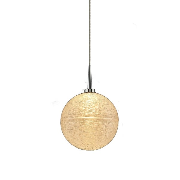 Dazzle 2 1-LED 4-inch Canopy Chrome Pendant with Clear Glass Shade