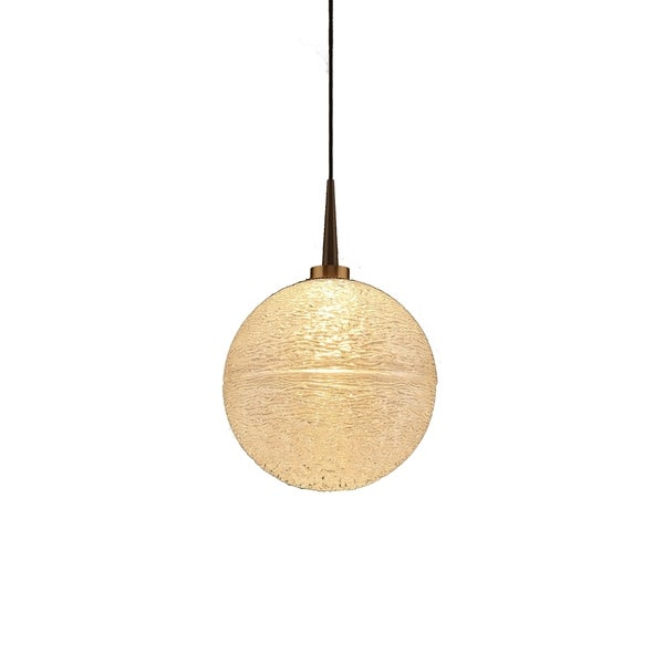 Dazzle 2 Bronze 4-inch Canopy 1-LED Clear Glass Pendant