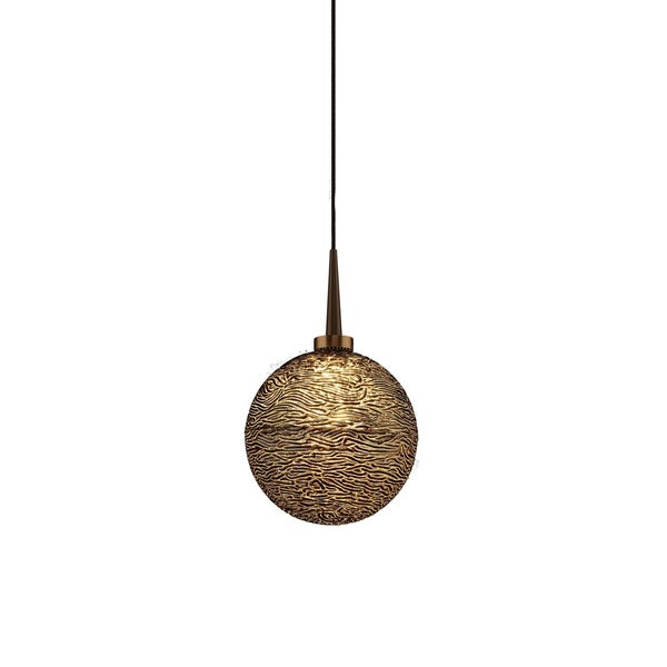 Dazzle 1 Bronze-tone Metal 1-LED 4-inch Canopy Pendant with Glass Shade